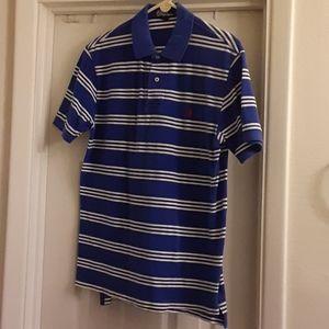 Polo by RL sz large blue stripe polo shirt